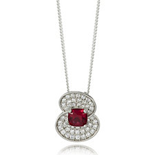 The Poppy Collection Sterling Silver 1.7ct tw Necklace by Diamonique