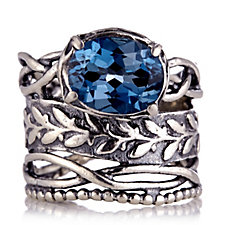 Or Paz London Blue Topaz Ring Sterling Silver