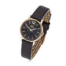 Orla Kiely Frankie Ladies Watch with Thick Leather Strap