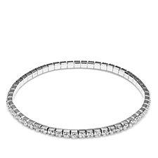 Diamonique 5.6ct tw Stretch Tennis Bracelet Sterling Silver
