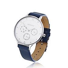 Skagen Ladies Anita Leather Strap Watch
