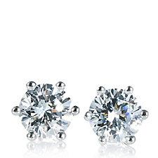 Diamonique 2ct tw Stud Earrings Sterling Silver