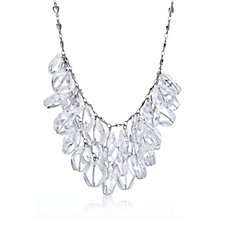 Eternal Crystal Bib 45cm Necklace with Extender Stainless Steel