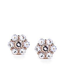 615346 - 0.70ct Morganite Cluster Earrings 9ct Rose Gold