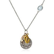 Zodiac Birthstone Charm 50cm Necklace Sterling Silver