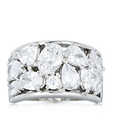664048 - Michelle Mone for Diamonique 4.50ct tw Band Ring Sterling Silver