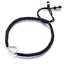 0.5ct Diamond Heart Friendship Bracelet Sterling Silver