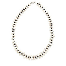 Honora 8-9mm Pearl & Hematite Collar  45cm Necklace Sterling Silver
