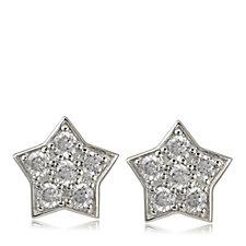 Diamonique 0.6ct tw Star Stud Earrings Sterling Silver