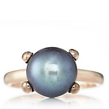 Honora 11-11.5mm Cultured Button Pearl Ring Bronze