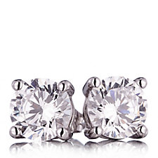 Diamonique 2ct tw Stud Earrings in Christmas Bauble Sterling Silver