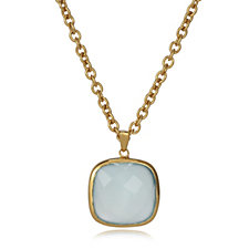 K by Kelly Hoppen Gemstone 45cm Necklace 18ct Gold Vermeil Sterling Silver