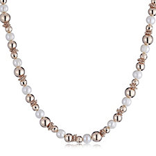Honora Cultured FreshWater Pearl Bead Rondel 45cm Necklace