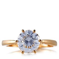 Diamonique 2ct tw Atlantis Cut Ring Sterling Silver