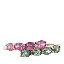 Sogni d'Oro 1.2ct Tourmaline Oval Embrace Ring 9ct Rose Gold
