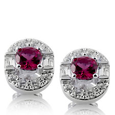 Diamonique by Tova 1.8ct tw Art Deco Style Earrings Sterling Silver