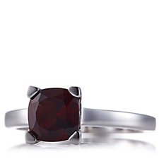 1.6ct Gemstone Cushion Cut Solitaire Ring Sterling Silver