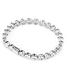 Diamonique 15.6ct tw Bezel Set Magnetic Bracelet Sterling Silver