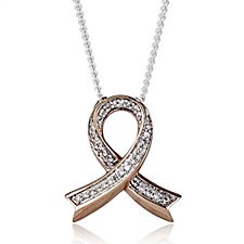Lisa Snowdon Breast Cancer Care Diamond Wish Pendant & Chain Sterling Silver