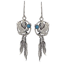 Nizhoni Sleeping Beauty Turquiose Drop Earrings Sterling Silver