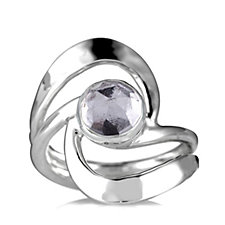 Taxco Traditions Hammered Swirl Ring Sterling Silver