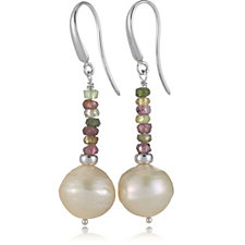 Honora Cultured Ming Pearl Drop Earrings Sterling Silver