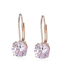 Diamonique 3ct tw Lever Back Earrings Sterling Silver