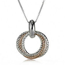 Links of London Aurora Cluster Link Pendant & 46cm Chain Sterling Silver