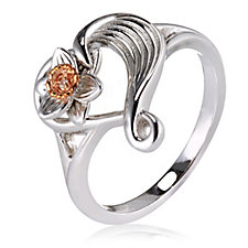 Clogau Daffodil 9ct Rose Gold & Sterling Silver Diamond Ring