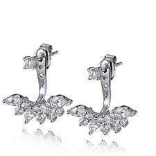 Diamonique 1.8ct tw Jacket Earrings Sterling Silver