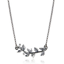 Or Paz Leaf 44cm Necklace Sterling Silver