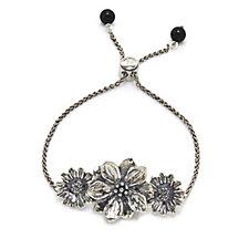 Or-Paz Friendship In Bloom Bracelet Sterling Silver & Stainless Steel