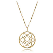 Daisy Chakra 18ct Gold Plated 65cm Necklace Sterling Silver
