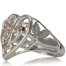Clogau 9ct Gold Sterling Silver Tree Of Life Heart Ring