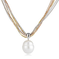 Honora Cultured Pearl 7 Strand 45cm Necklace Bronze