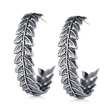 Or Paz Leaf Earrings Sterling Silver