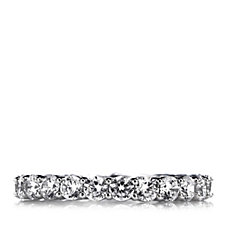 Diamonique 2.2ct tw Full Eternity Ring Sterling Silver