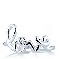 Lisa Snowdon Diamond Love Ring Sterling Silver