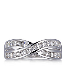 675262 - Diamonique by Andrea McLean 1.15ct tw Infinity Ring Sterling Silver