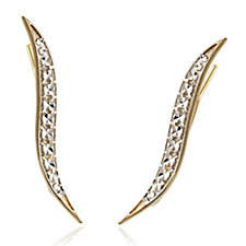 9ct Gold Diamond Cut Earclimbers
