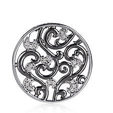 Emozioni Silver Plated Edera Small Coin Insert Brass