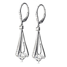 Diamonique 6.3ct tw Drop Earrings Sterling Silver