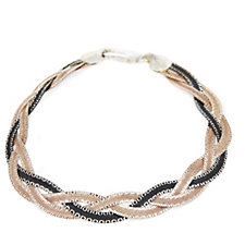 Georgiana by G Scott Braided 19cm Bracelet Sterling Silver