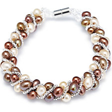 Honora 4.5-5mm Cultured Pearl 17.5cm Bracelet Stainless Steel