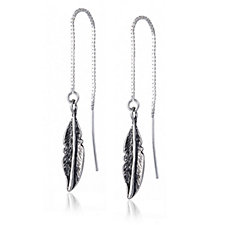 Or-Paz Feather Threader Earrings Sterling Silver