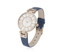 Anne Klein The Signature Leather Strap Watch