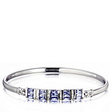 Diamonique 2.1ct tw Simulated Tanzanite Bangle Sterling Silver