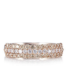 Diamonique 1.6ct tw Champagne Ring Rose Gold Plated Sterling Silver
