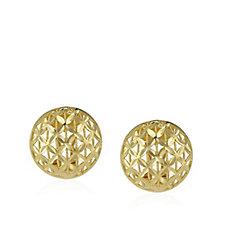 Veronese Diamond Cut Button Earrings Sterling Silver