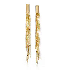 Bella Vita 18ct Gold Plated Multistrand Beaded Earrings Bronze